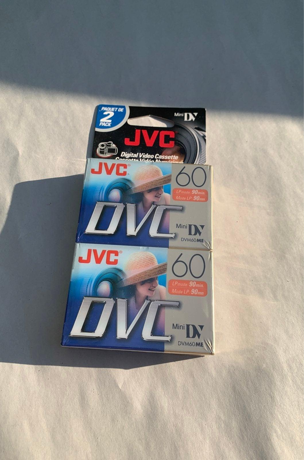 2 pack JVC DVC camcorder tapes