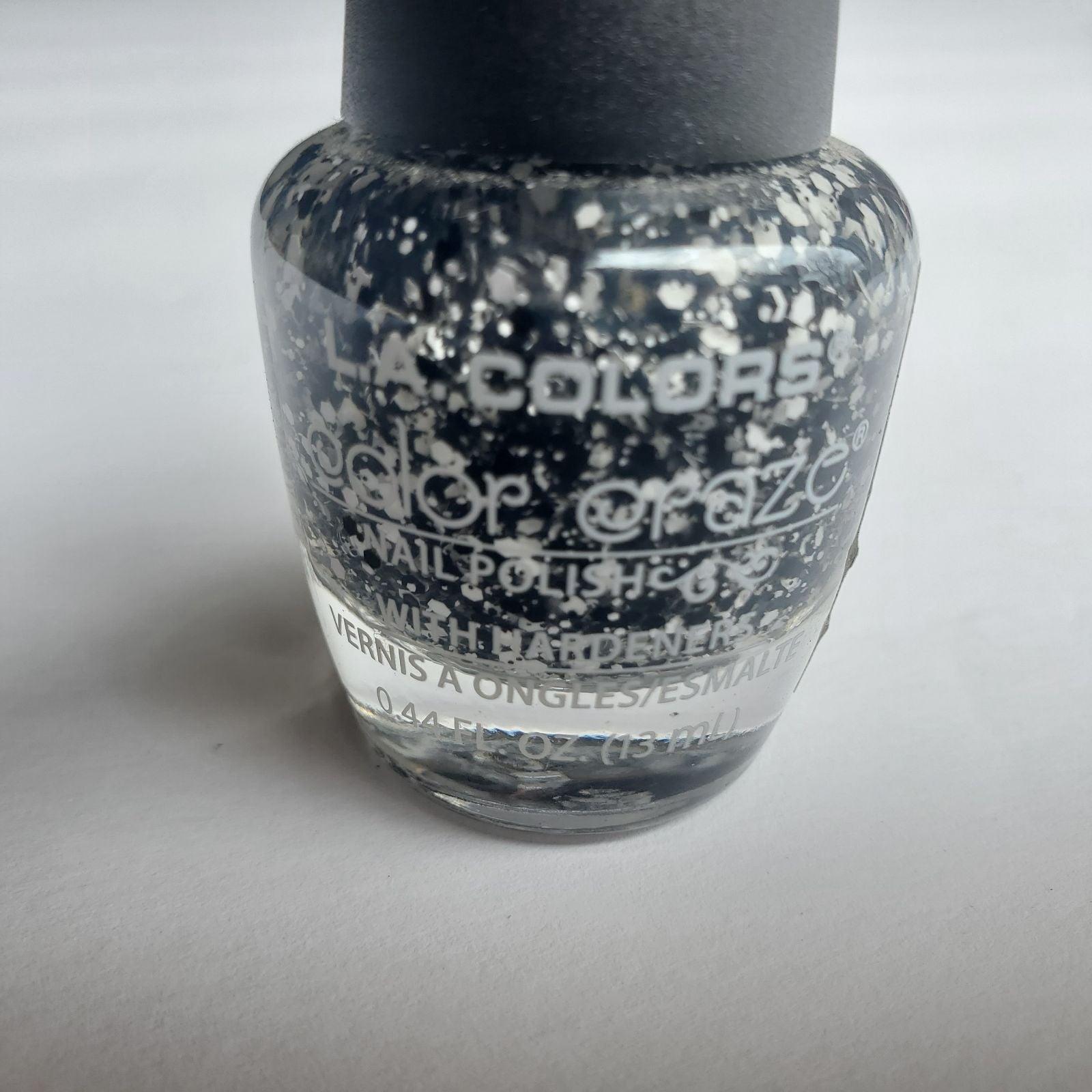 LA Colors Splat! Black and white glitter