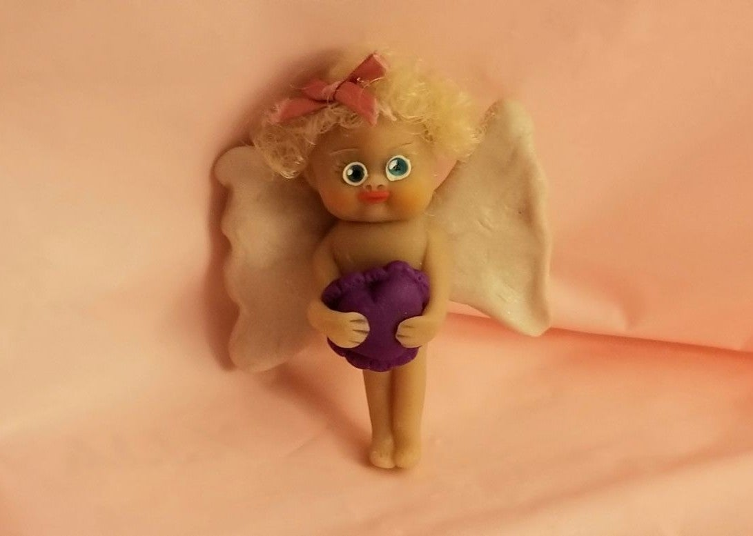 DOLL ANGEL BABY GIRL TINY BROACH OOAK