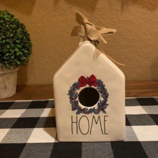 Vintage Wreath Birdhouse.!