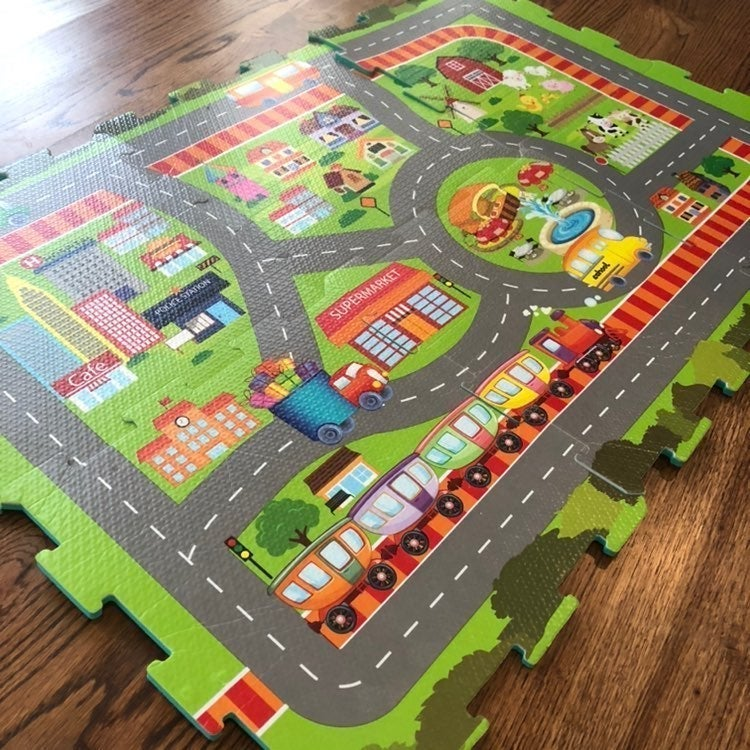 Play Mat with City, Town and Farm