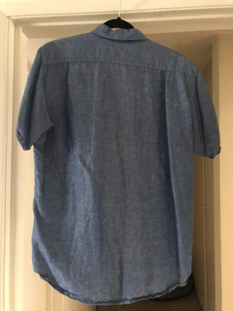 Uniqlo chambray short sleeve button down