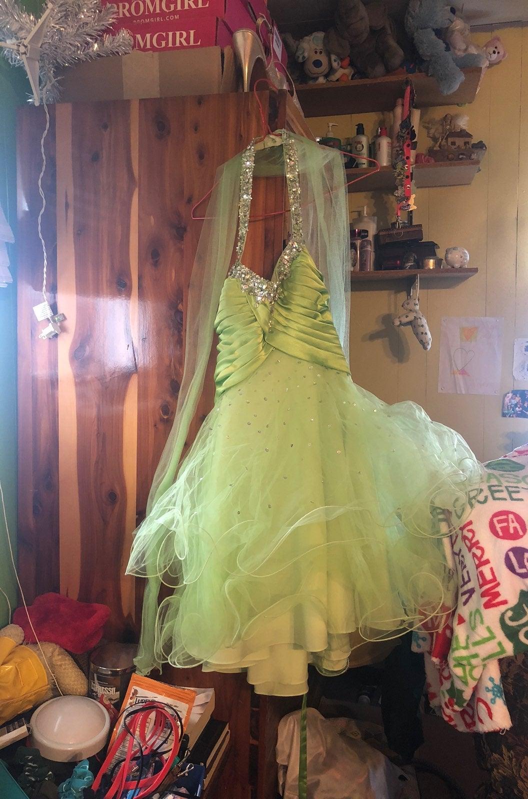 green mori lee dress