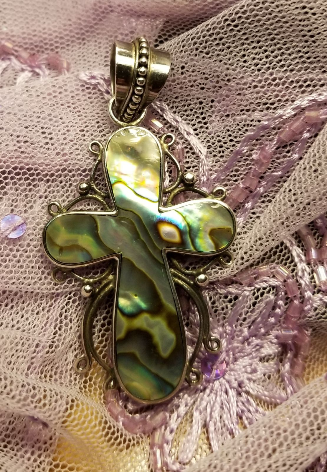 Abalone Cross pendant