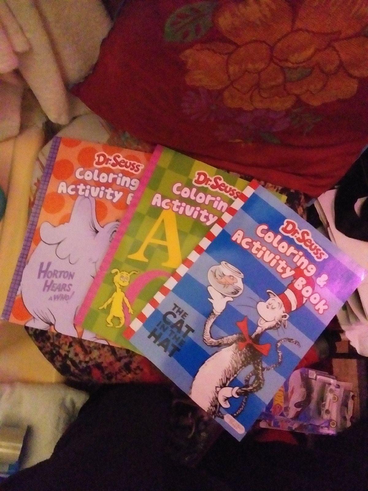 Dr. Seuss Coloring & Activity Books×3