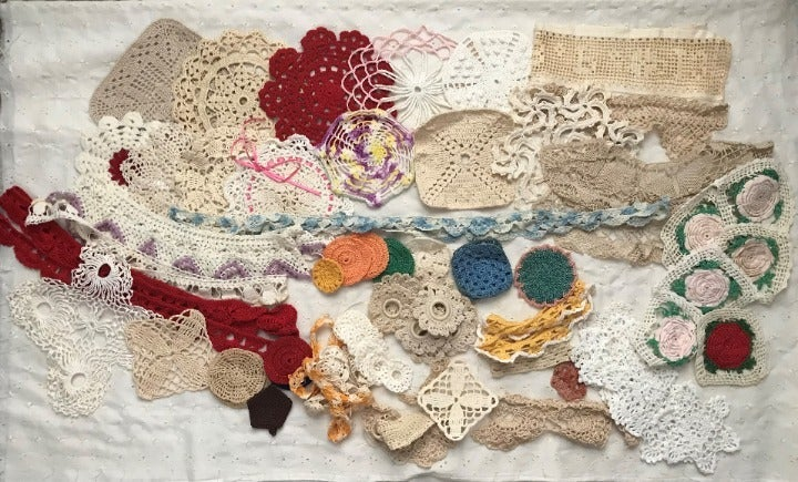 60 + Vintage Crochet Pieces For Projects