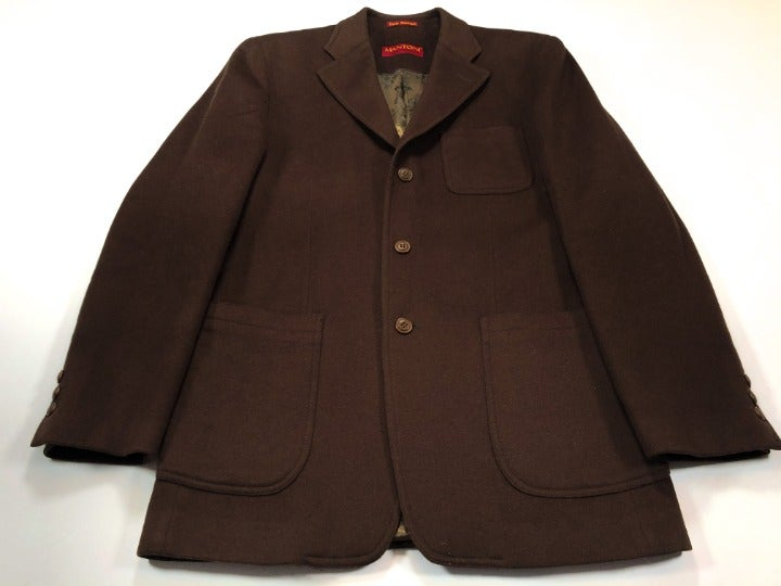Mantoni 40R Brown Wool Cashmere Coat
