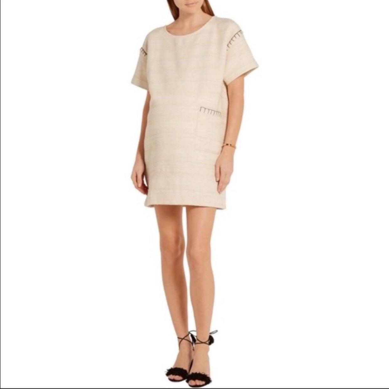 Hatch maternity Naomi ivory tweed dress
