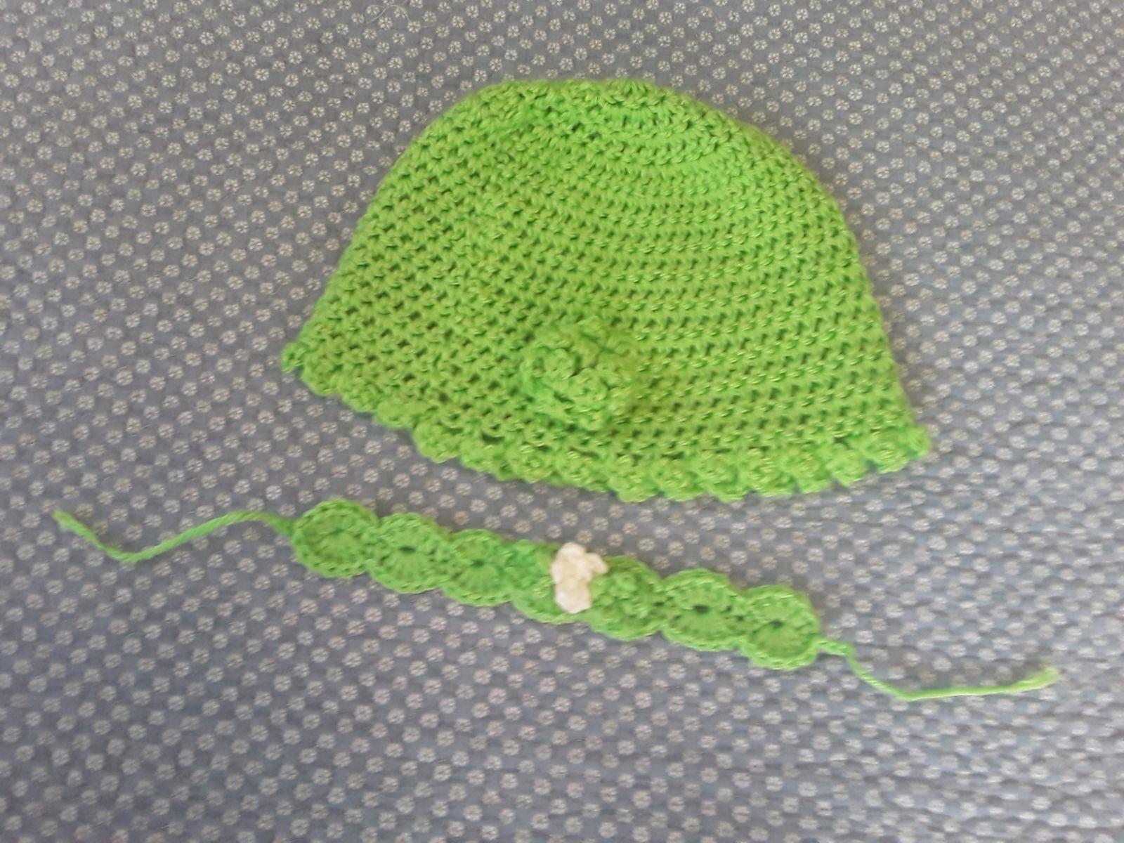 Handmade Crochet Baby Hat & Headband