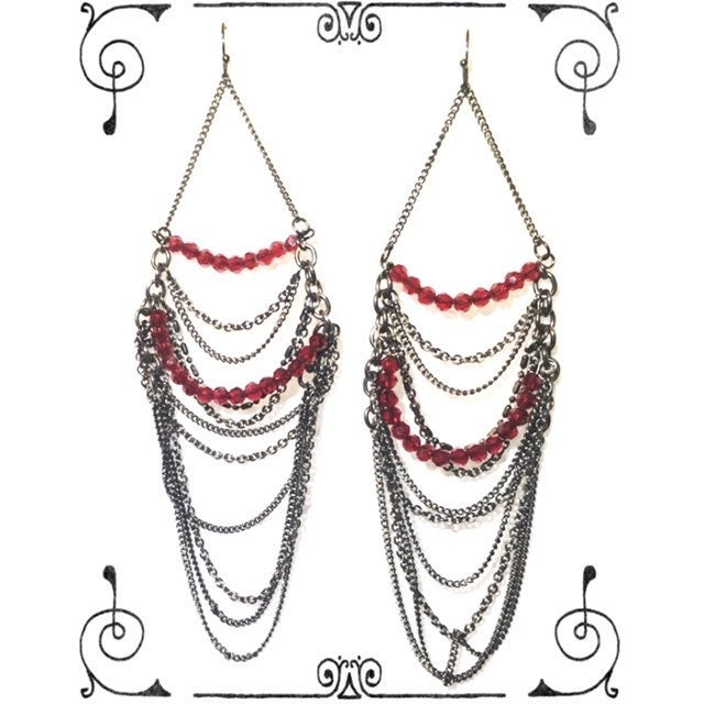 "M Haskell 6"" Bollywood Chain Earrings"