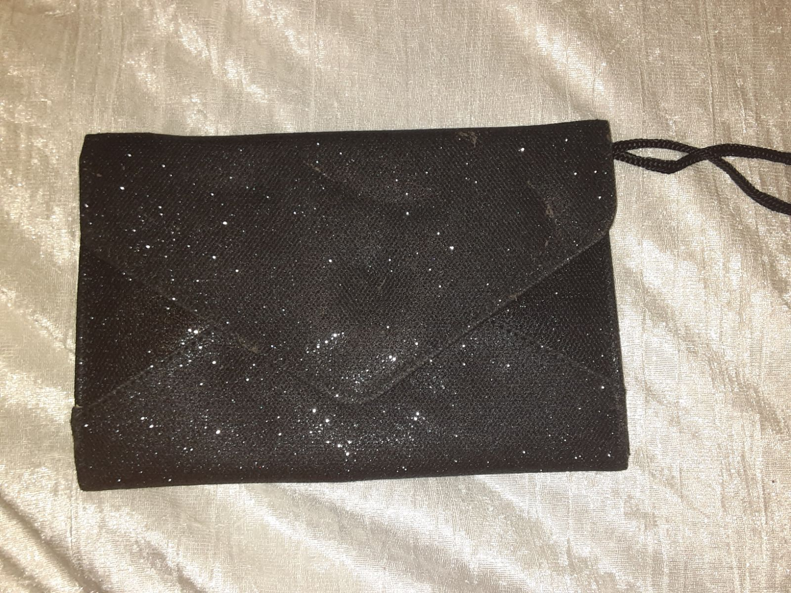 Black sparkly wristlet...like new
