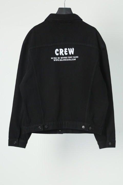 balenciaga black crew jacket