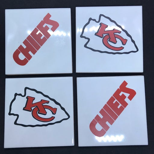 KC Chiefs coasters