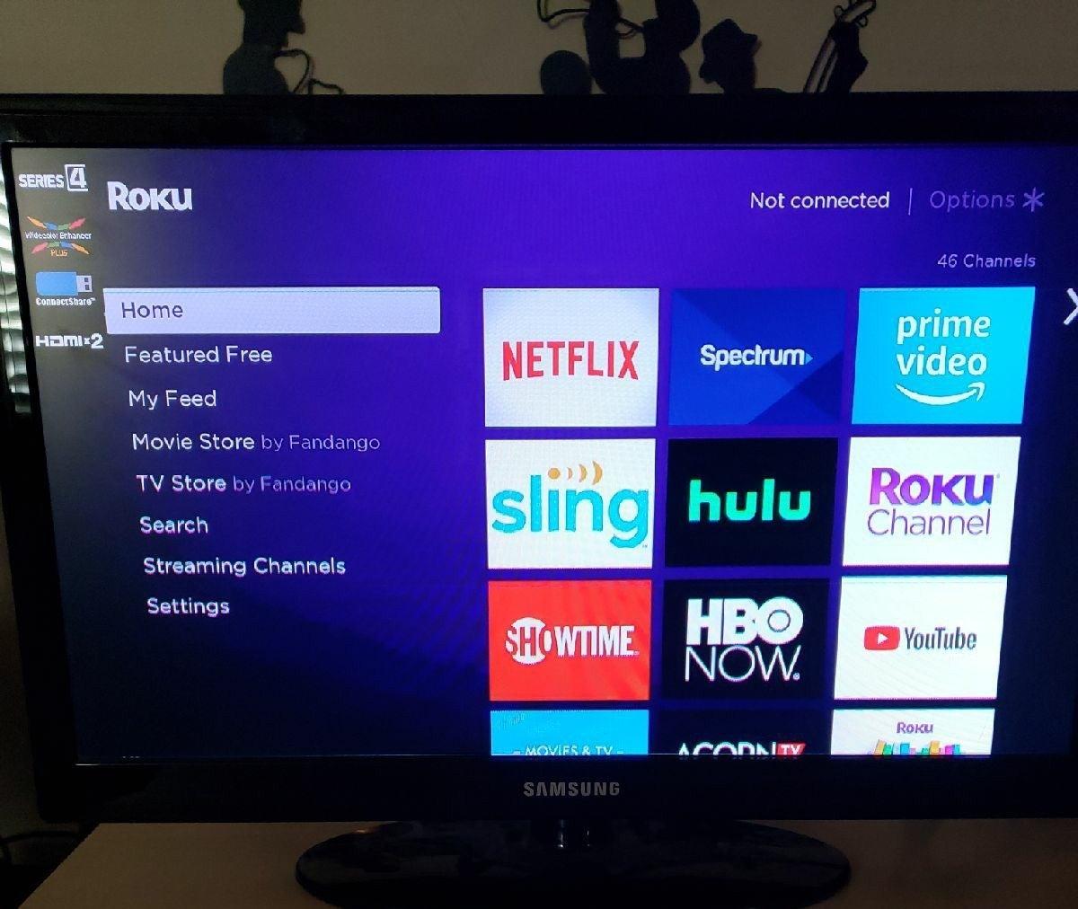 Roku + Samsung 22 inch TV