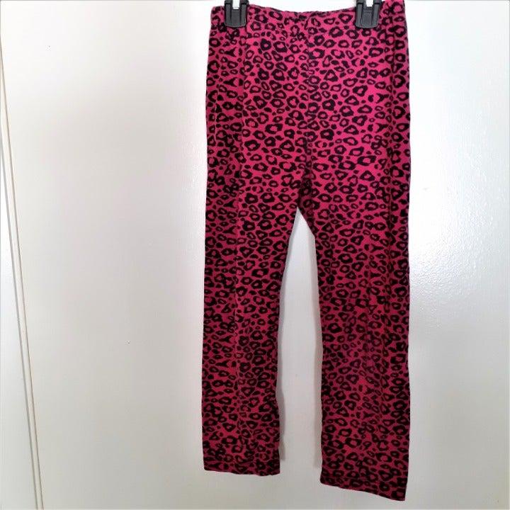 Beautees pink animal print leggings 6X