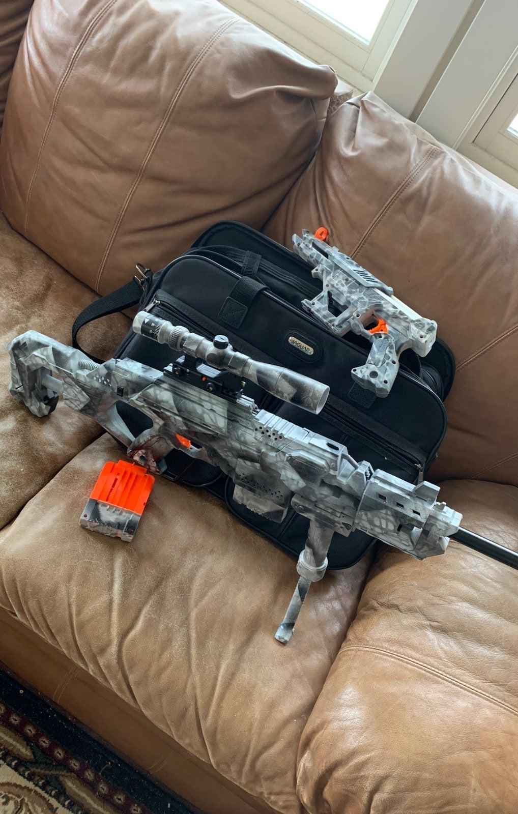 Custom nerf alphahawk/stryfe integration
