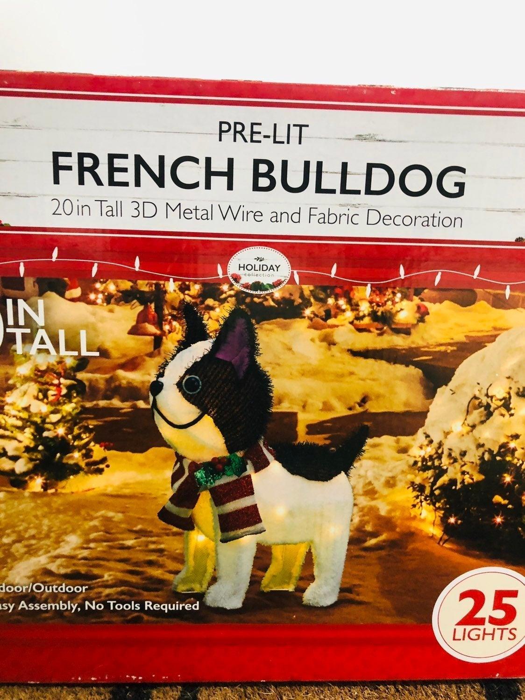 Christmas Yard Decor - French Bulldog