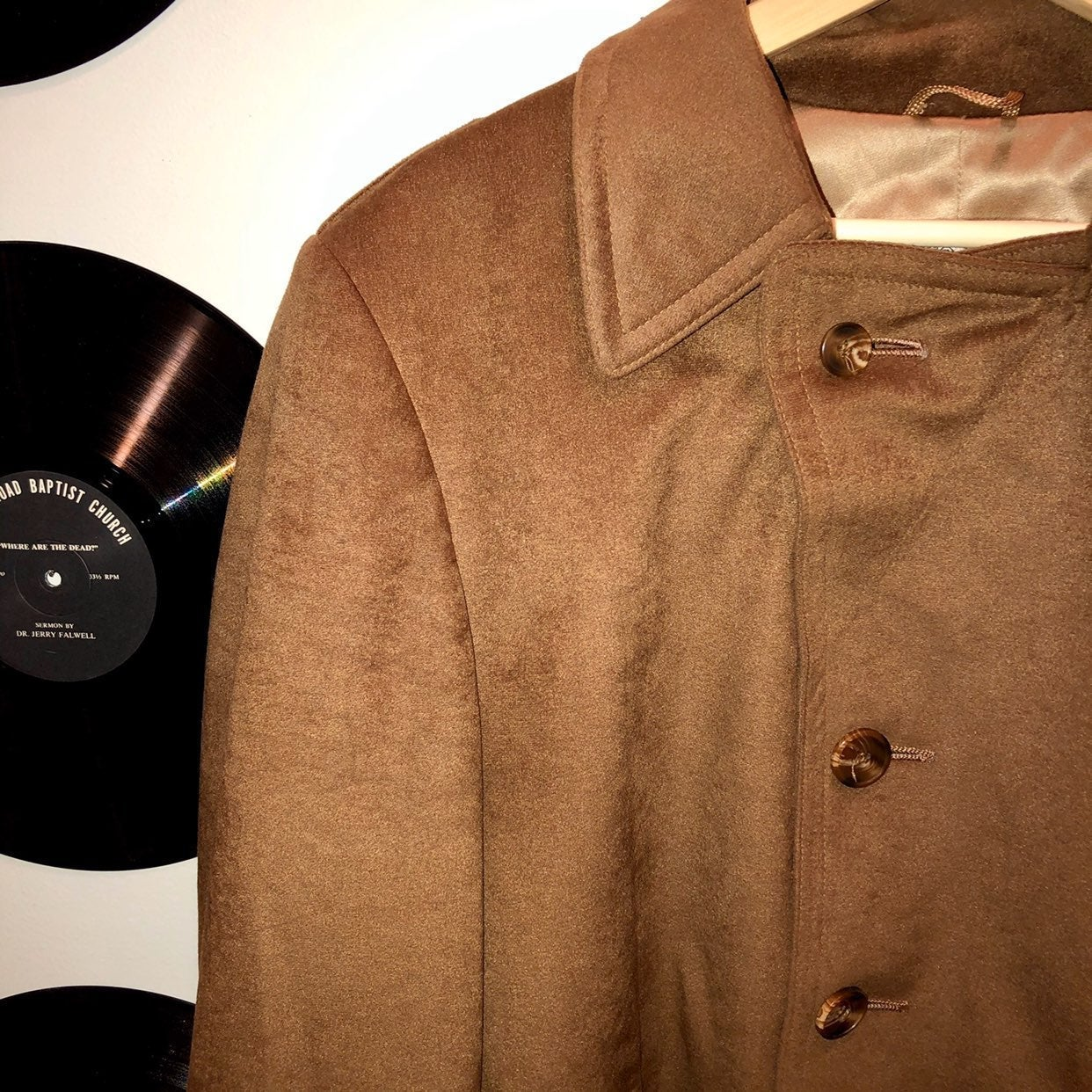 vintage 60s stratojac suede trench coat
