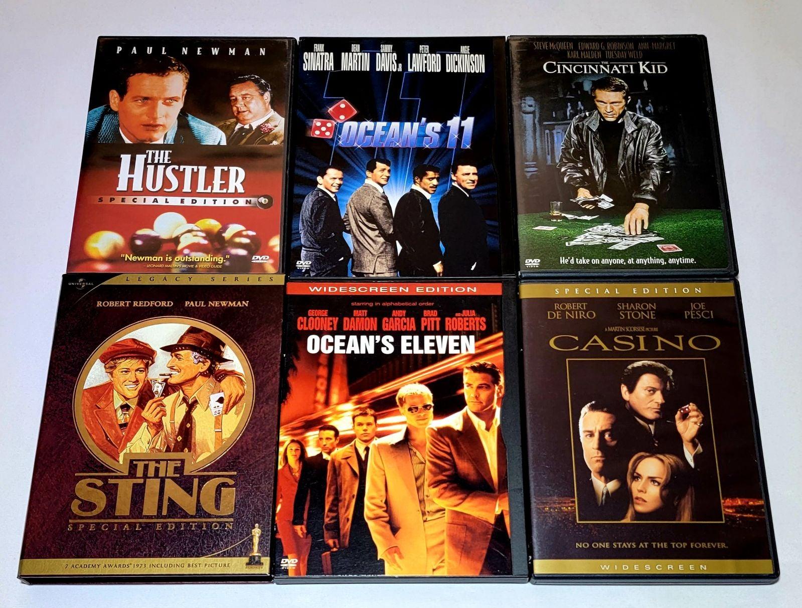 The Hustler, Sting, Ocean's 11 DVD Lot