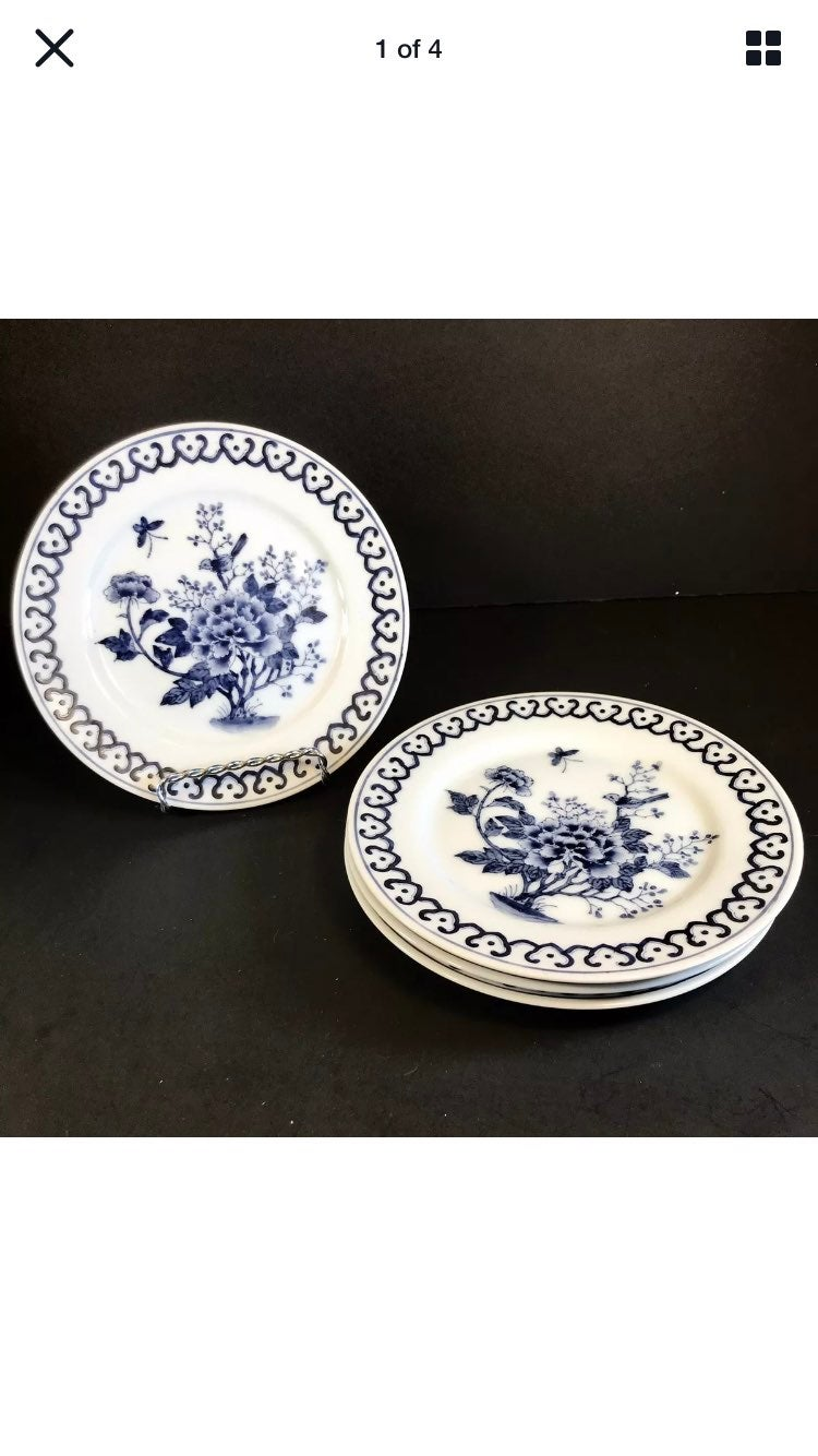 Vintage Handpainted Chinese Bread Plates