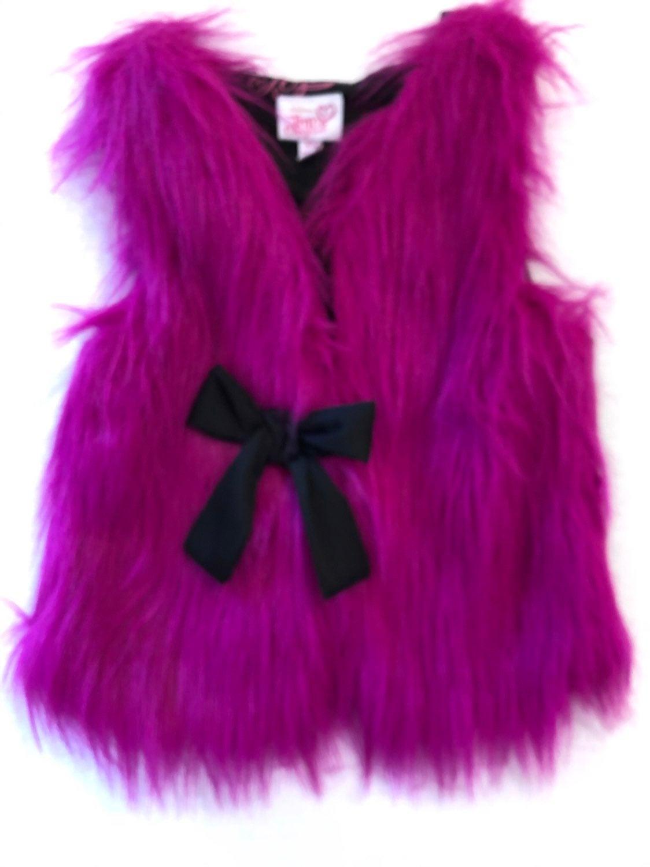 New! JoJo Siwa Faux Fur Vest xs 4-5