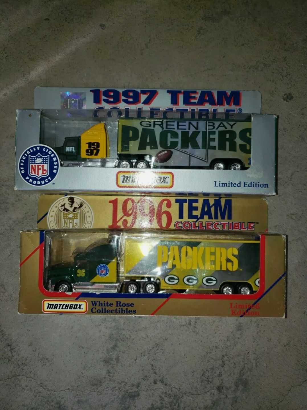 Packers toy trucks
