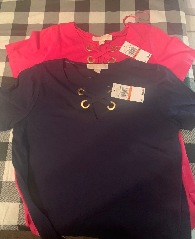 2 NWT Michael Korts Shirts