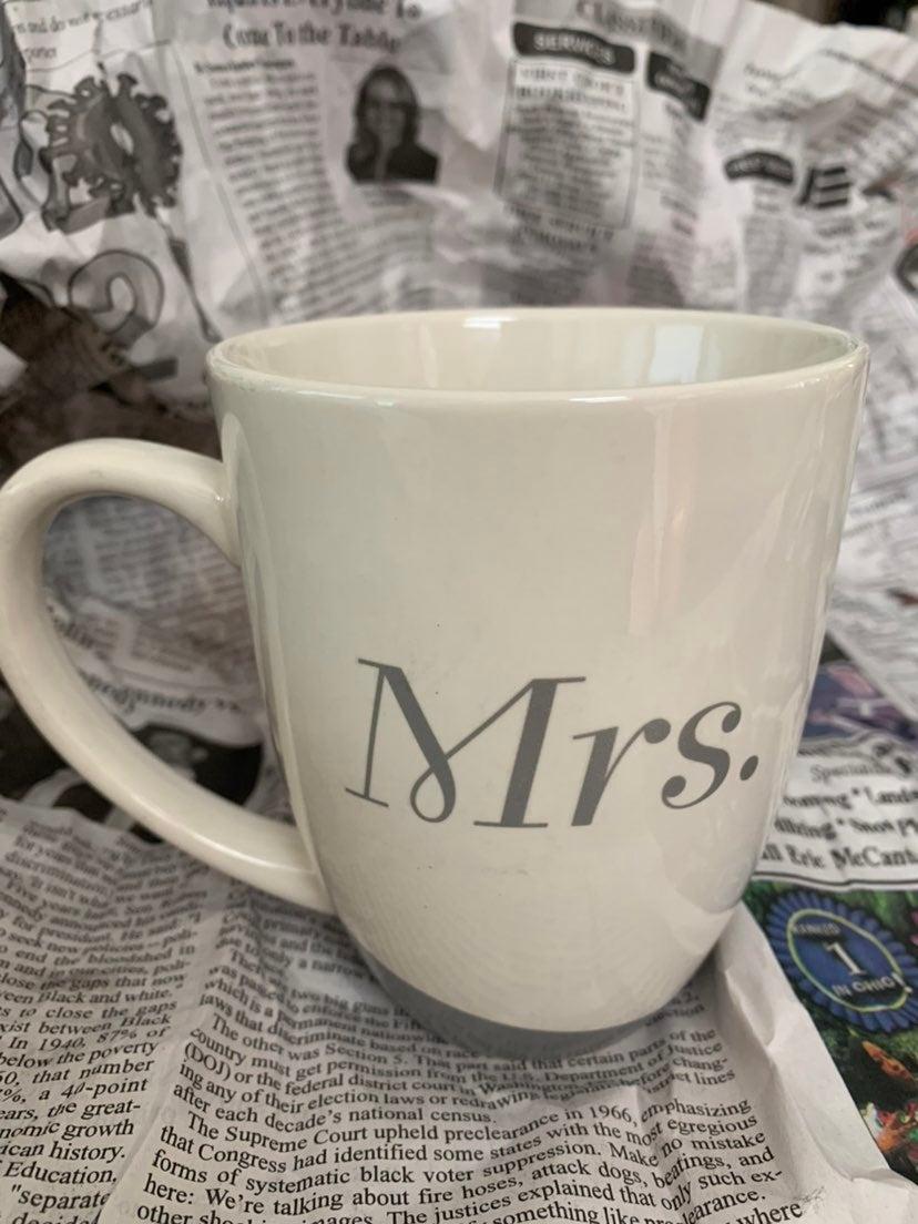 MRS Wedding Bridal gift Mug coffee mug