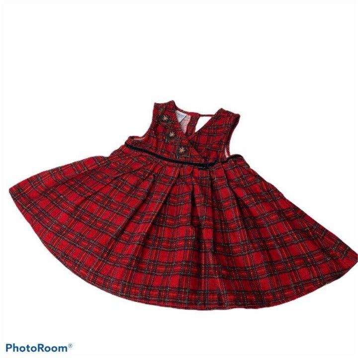 Samara Dress Jumper Girls 4T Red Plaid