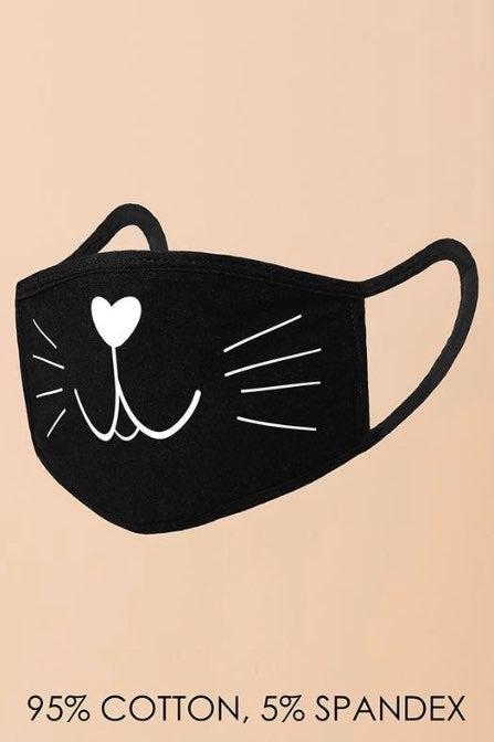 Cute Face Mask Cat Face Mask Cat Design