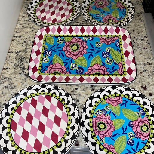 Plate and platter set
