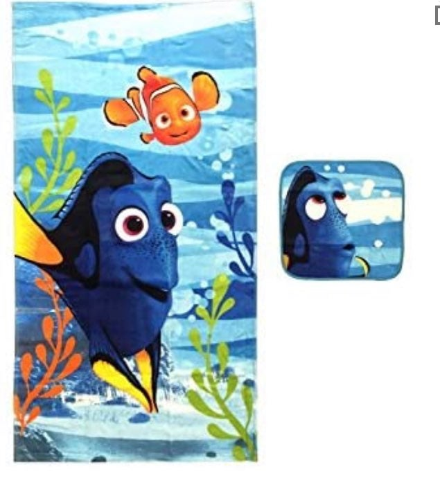 Disney- Finding Dory 2 piece Bath Set