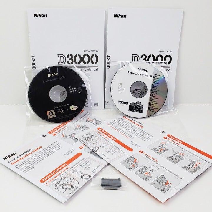 Nikon D3000 DSLR Camera software manuals