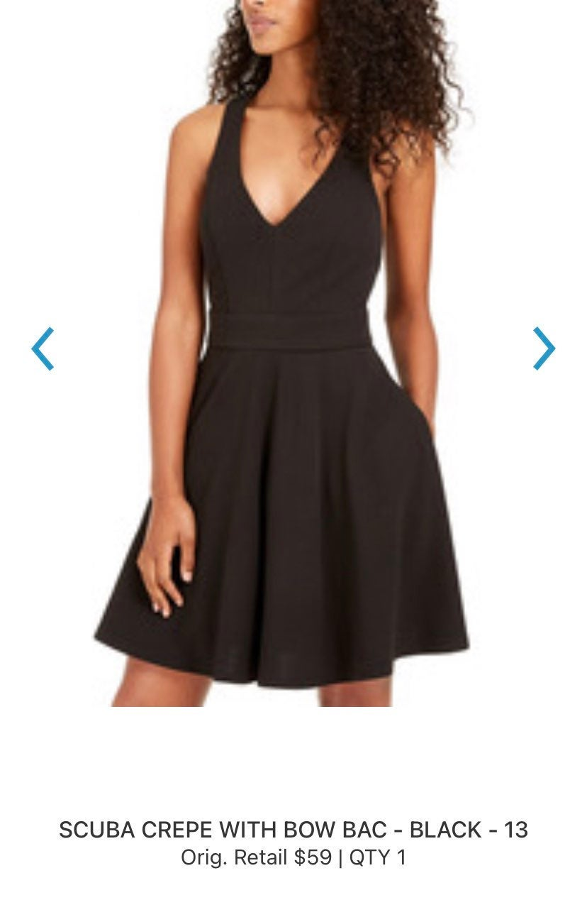 City Studio Fit and Flare Dress
