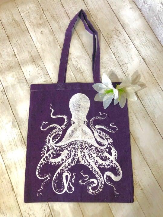 Octopus Canvas Tote Bag