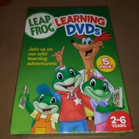 Leapfrog A Tad Of Christmas Cheer Dvd.New Leap Frog 5 Disc Learning Dvd Set