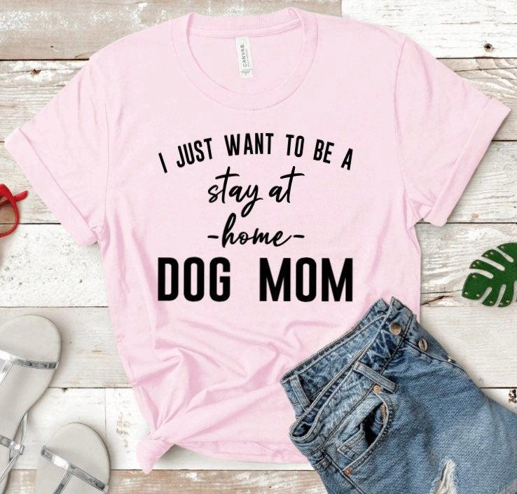 Large Dog Mom Bella+Canvas soft tee