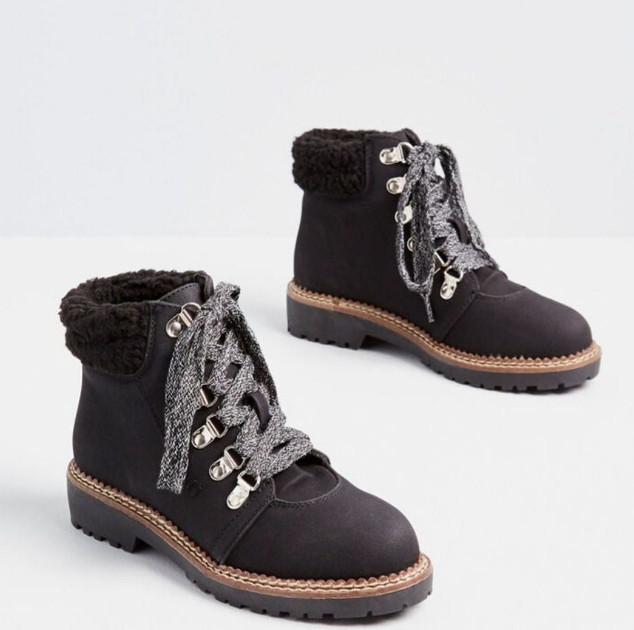 New In Box Modcloth Suede Hiking Boots