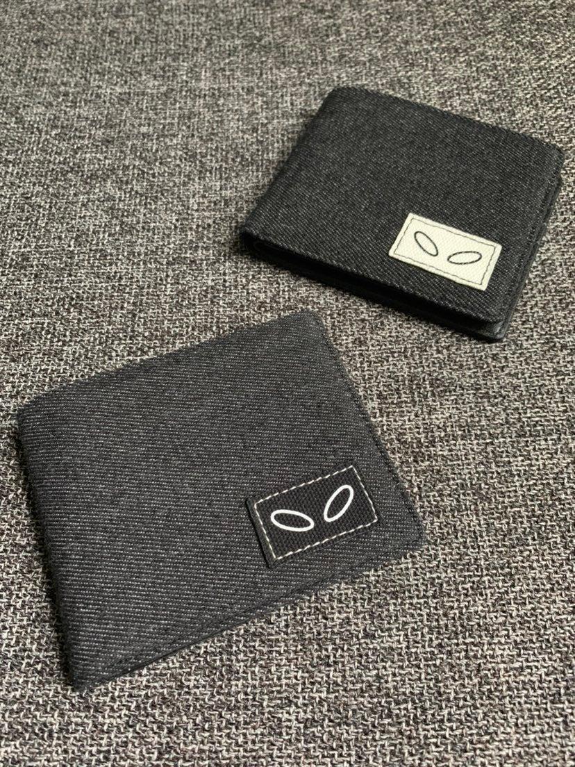 Groovy Denim + Leather Bi-Fold Wallet