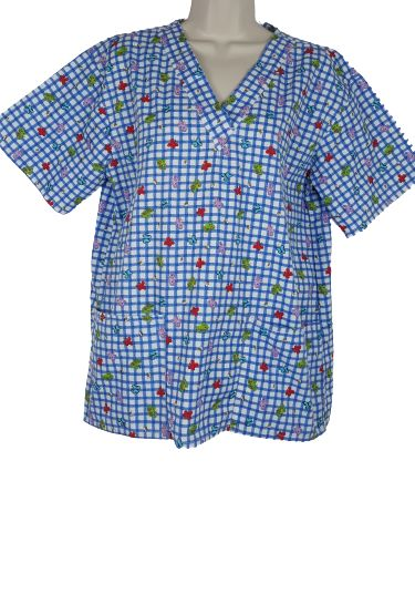 NWOT Beverly Hills butterfly scrub top M
