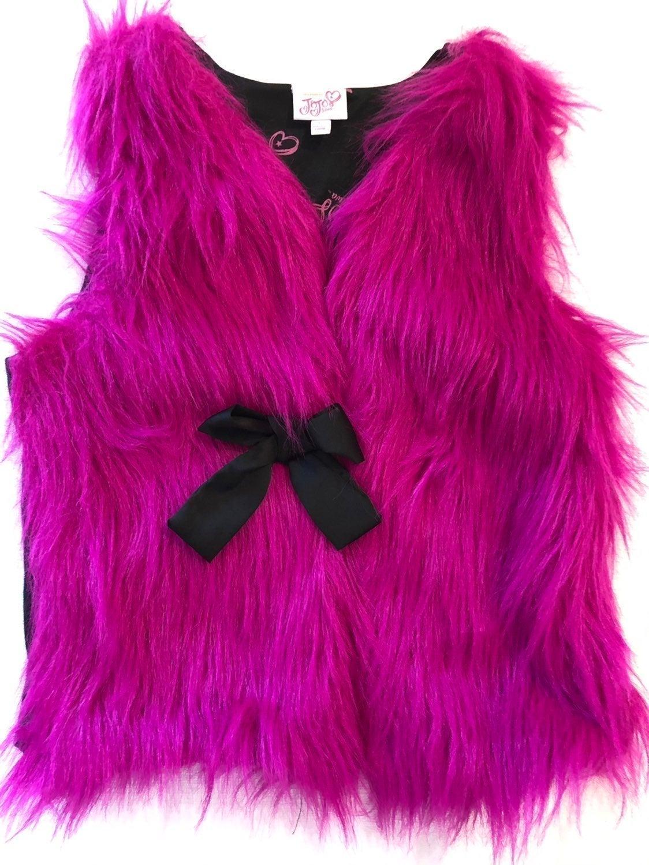 New! JoJo Siwa Faux Fur Vest LG 10-12
