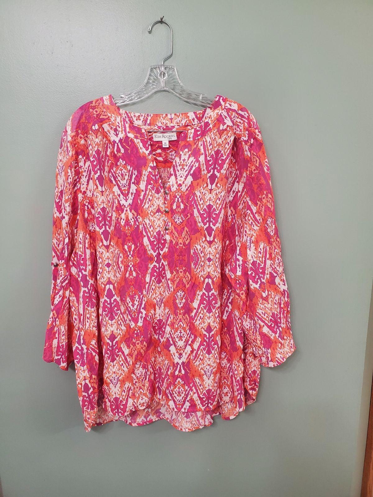 Kim Rogers Curvy Colorful Plus Size Top