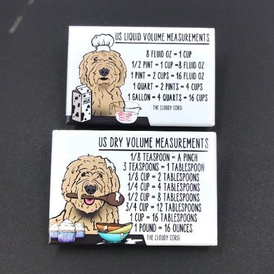 Goldendoodle Dog Measuring Magnet Set