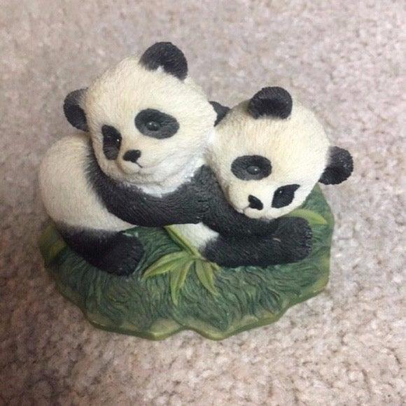 Playful Pandas 1996 Sculpture Collection