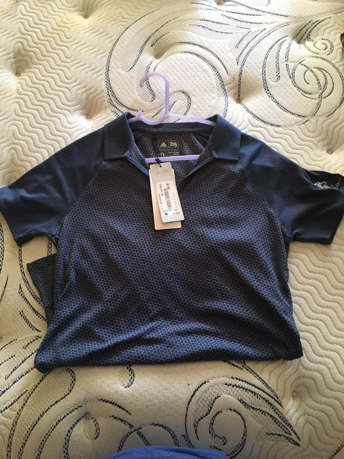Adidas Women Teal Bend Golf Course Shirt