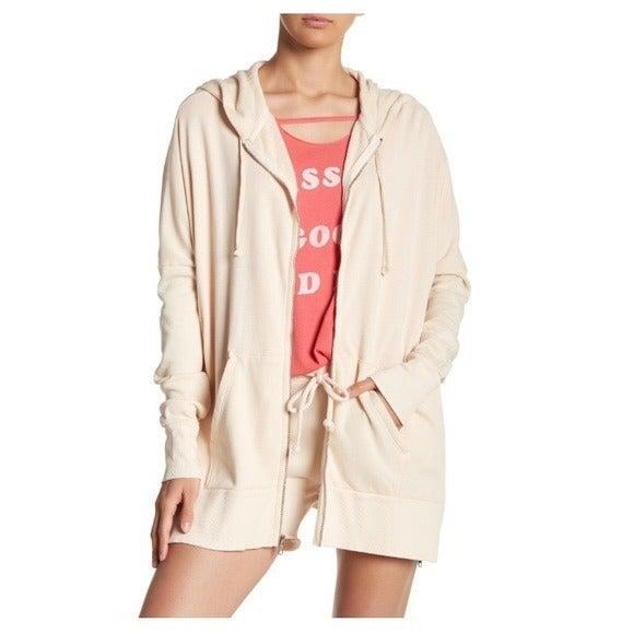 Wildfox oversized zip front hoodie