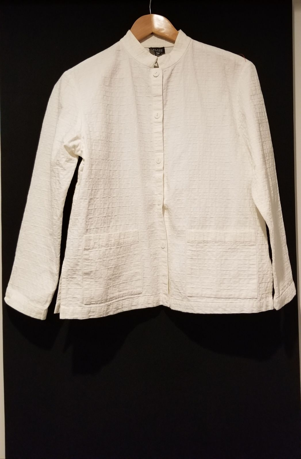 eileen fisher white top