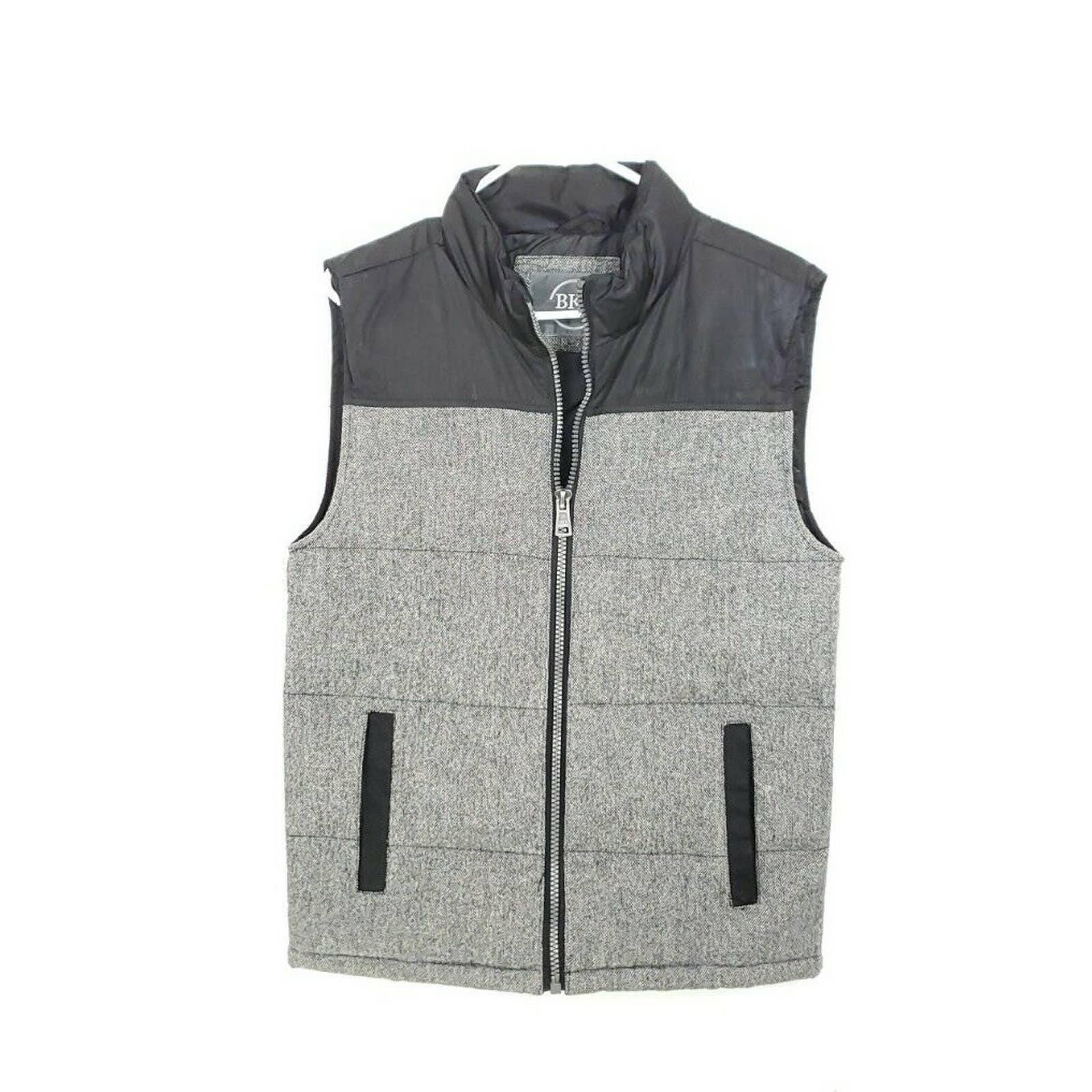 BKE Vest Wool Blend Gray Standard Fit M