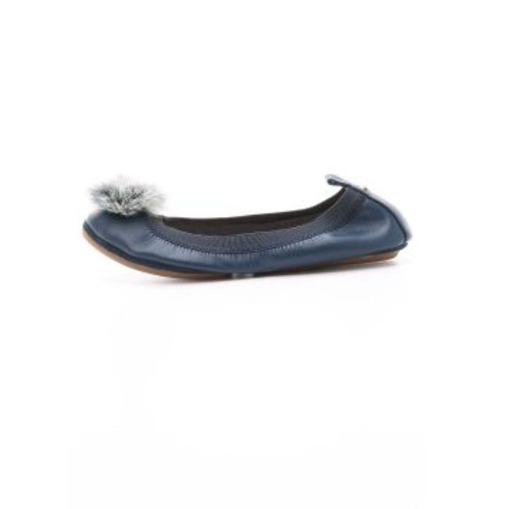 Navy Blue Yosi Samra Foldable Flats