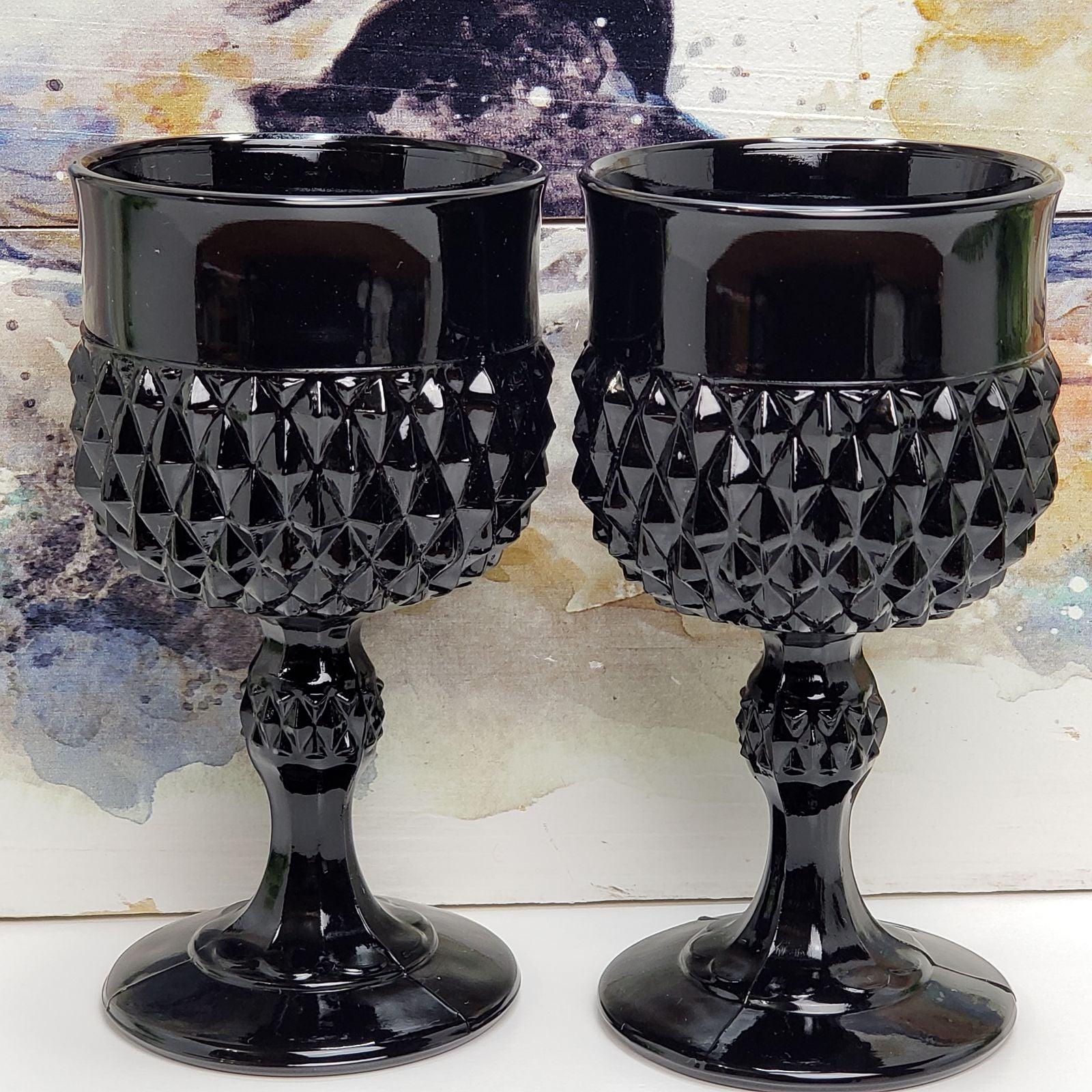Vintage Indiana Glass Cameo Tiara Black